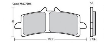 Bremsbelag Vorderachse, Pure Racing Beläge Z04, Ducati 1199, 12-14