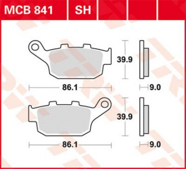 Bremsbeläge, Hinterachse, Kawasaki Z 800, 13 --
