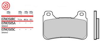 Bremsbelag Vorderachse, Original Sinter, Honda CBR 1000 RR, 04-05