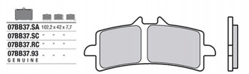 Bremsbelag Vorderachse, Original Sinter, Honda CBR 1000 RR SP, 14-16