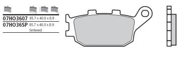 Bremsbelag Hinterachse, Original, Honda CBR 600 RR, 05-06