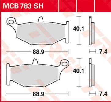 Bremsbeläge, Hinterachse, Suzuki GSX R 750, 06-07