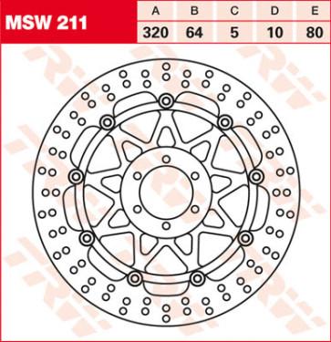 Bremsscheiben, Vorderachse, KTM RC 8 R, 09-15