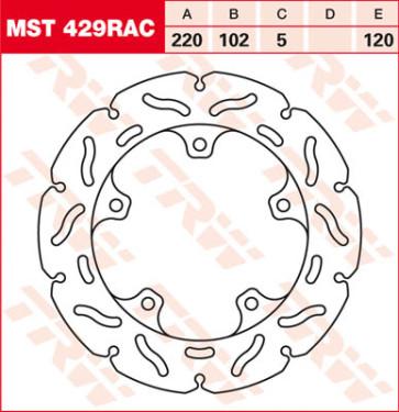 """Bremsscheiben, Hinterachse, Designscheibe """"Racing"""", Aprilia RSV 4, 11-14"""