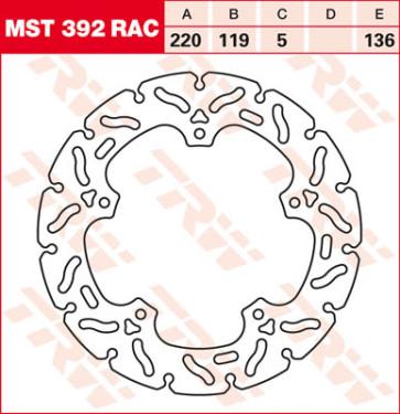 """Bremsscheiben, Hinterachse, Designscheibe """"Racing"""", BMW S1000 RR, 09-18"""