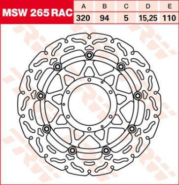 """Bremsscheiben, Vorderachse, Designscheibe """"Racing"""", Honda CBR 1000 RR, 08-16"""
