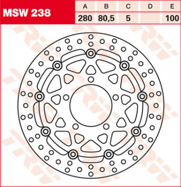 Bremsscheiben, Vorderachse, Kawasaki ZX 6 R, 03-04