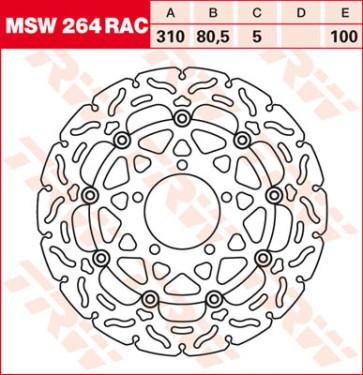 """Bremsscheiben, Vorderachse, Designscheibe """"Racing"""", Kawasaki ZX 10 R, 11-15"""