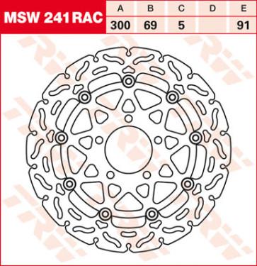 """Bremsscheiben, Vorderachse, Designscheibe """"Racing"""", Suzuki GSX R 750, 04-05"""