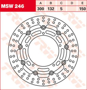 Bremsscheiben, Vorderachse, Yamaha YZF R6, 03-04