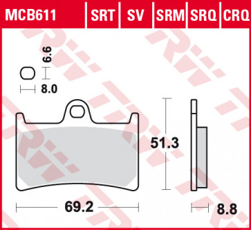 Bremsbeläge, Vorderachse, Vorderachsen Belag SV, Yamaha YZF R1, 04-06