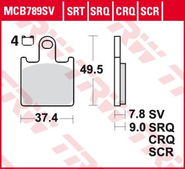 Bremsbeläge, Vorderachse, SRT Sinter Road / Track Sportmischung Belag, Kawasaki ZX 6 R, 07-08