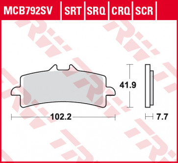 Bremsbeläge, Vorderachse, Hyper Carbon Belag - CRQ, Triumph Daytona 675 R, 2011