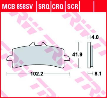 Bremsbeläge, Vorderachse, SRT Sinter Road & Track Sportmischung Belag, Honda CBR 1000 RR SP, 14-16