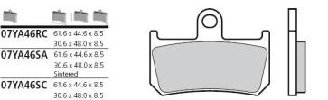 Bremsbelag Vorderachse, Sinter, Yamaha YZF R1, 07-14