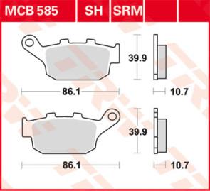 Bremsbeläge, Hinterachse, Triumph Daytona 675, 06-11