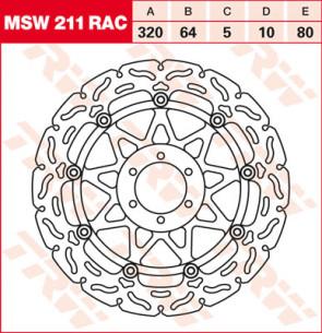 """Bremsscheiben, Vorderachse, Designscheibe """"Racing"""", Aprilia RSV 4, 09-10"""