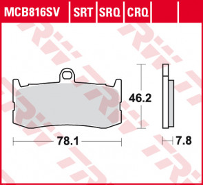 Bremsbeläge, Vorderachse, SRT Sinter Road & Track Sportmischung Belag, Triumph Daytona 675, 12-16