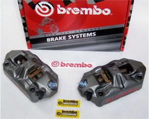 Brembo Radial M4 Monoblock Bremszangen Kit 100 mm, Aprilia RSV 4, 09-14
