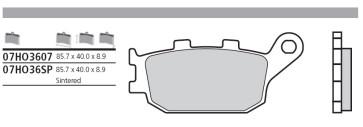 Bremsbelag Hinterachse, Sinter, Honda CBR 1000 RR, 04-05