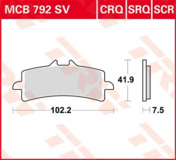 Bremsbeläge, Vorderachse, Hyper Carbon Belag - CRQ, Aprilia RSV 4, 09-14