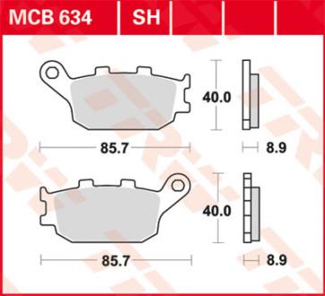 Bremsbeläge, Hinterachse, Honda CBR 600 RR, 03-04