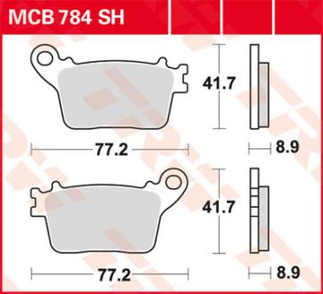 Bremsbeläge, Hinterachse, Honda CBR 1000 RR, 06-16