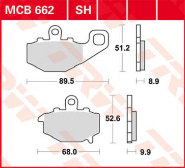 Bremsbeläge, Hinterachse, Kawasaki ZX 6 R, 05-06