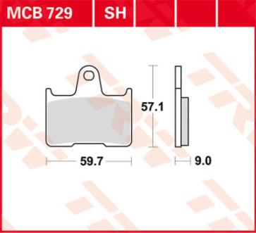 Bremsbeläge, Hinterachse, Suzuki GSX R 600, 04-05