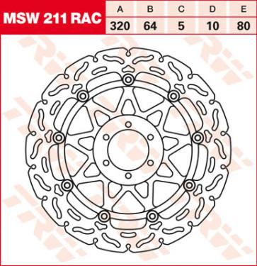"""Bremsscheiben, Vorderachse, Designscheibe """"Racing"""", Aprilia RSV 4, 11-14"""