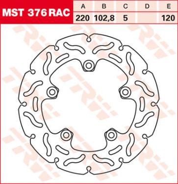 """Bremsscheiben, Hinterachse, Designscheibe """"Racing"""", Aprilia RSV 4, 09-10"""