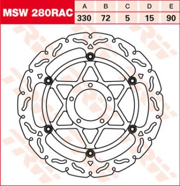 """Bremsscheiben, Vorderachse, Designscheibe """"Racing"""", Ducati 1098, 07-08"""