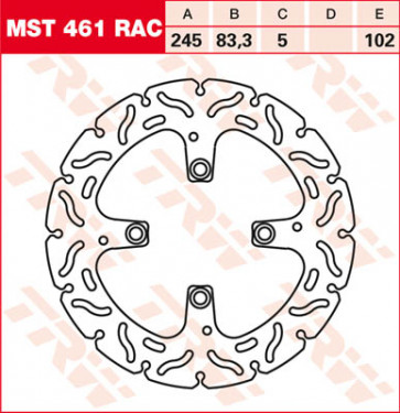"Bremsscheiben, Hinterachse, Designscheibe ""Racing"", Ducati 1098, 07-08"