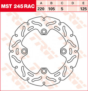 "Bremsscheiben, Hinterachse, Designscheibe ""Racing"", Honda CBR 1000 RR, 04-07"