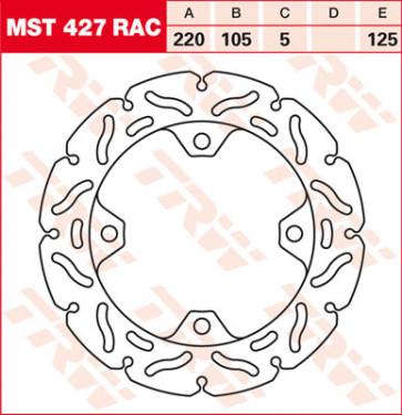 "Bremsscheiben, Hinterachse, Designscheibe ""Racing"", Honda CBR 1000 RR, 08-16"