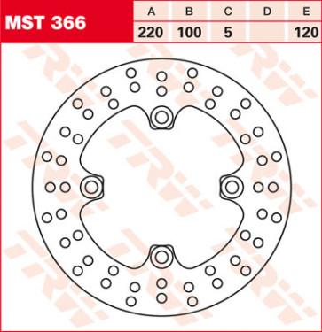 Bremsscheiben, Hinterachse, Kawasaki ZX 10 R, 04-05
