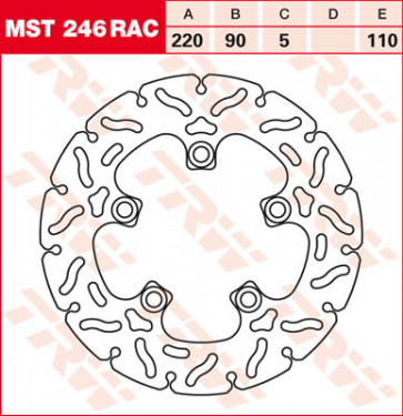 """Bremsscheiben, Hinterachse, Designscheibe """"Racing"""", Suzuki GSX R 750, 08-10"""