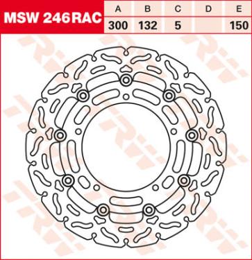 """Bremsscheiben, Vorderachse, Designscheibe """"Racing"""", Yamaha YZF R6, 03-04"""