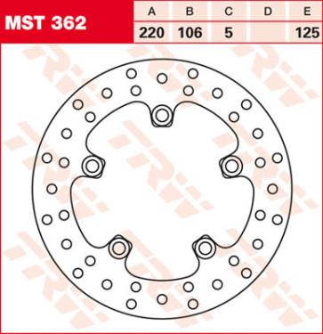 Bremsscheiben, Hinterachse, Yamaha YZF R6, 03-04