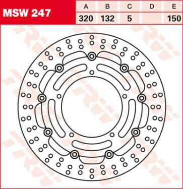 Bremsscheiben, Vorderachse, Yamaha YZF R1, 04-06