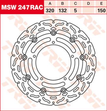 """Bremsscheiben, Vorderachse, Designscheibe """"Racing"""", Yamaha YZF R1, 04-06"""
