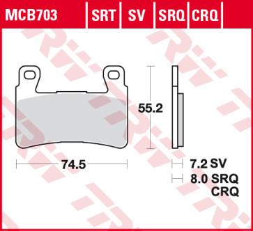 Bremsbelägee, Vorderachse, SRT Sinter Road & Track Belag, Honda CBR 600 RR, 03-04