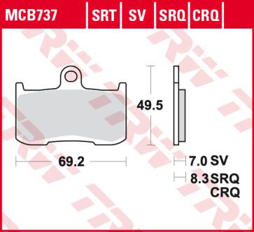 Bremsbeläge, Vorderachse, Vorderachsen Belag SV, Triumph Daytona 675, 06-11