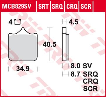 Bremsbeläge, Vorderachse, Hyper Carbon Belag - CRQ, BMW S1000 R, 14 --