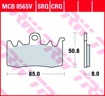 Bremsbeläge, Vorderachse, SRT Sinter Road & Track Sportmischung Belag, Ducati 899, 13-15