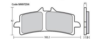 Bremsbelag Vorderachse, Pure Racing Beläge Z04, KTM RC 8 R, 09-15