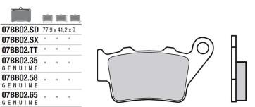 Bremsbelag Hinterachse, Original , BMW S1000 RR HP4, 13-14