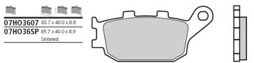 Bremsbelag Hinterachse, Standard, Yamaha YZF R1, 04-06