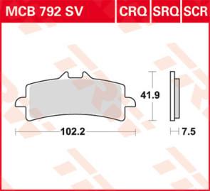 Bremsbeläge, Vorderachse, Vorderachsen Belag SV, Aprilia RSV 4, 09-14
