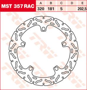 """Bremsscheiben, Vorderachse, Designscheibe """"Racing"""", BMW S1000 RR, 09-18"""